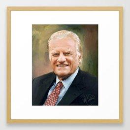 Rev. Billy Graham Framed Art Print