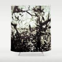ninja Shower Curtains featuring ninja by neutral density