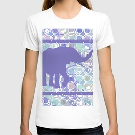 Abstract Purple Elephant T-shirt