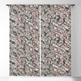 Gray Red Army Camouflage Blackout Curtain