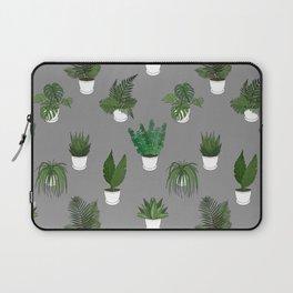 Houseplants Illustration (grey background) Laptop Sleeve