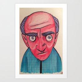 Redface Art Print