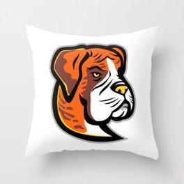 Boxer Dog Mascot Throw Pillow
