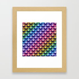 Koi Nobori Niji Framed Art Print