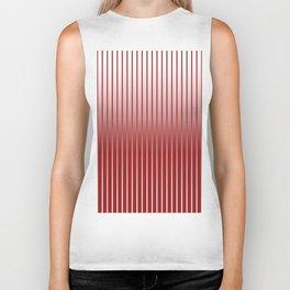 Red Variegated Reverse Stripe Vertical Biker Tank