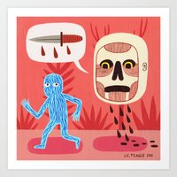 nightmare Art Prints featuring Nightmare by Jack Teagle
