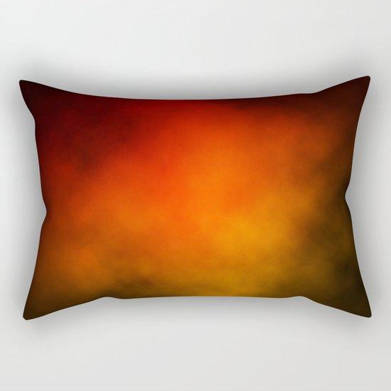 Red-Orange Nebula Rectangular Pillow