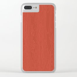 Barnwood Clear iPhone Case