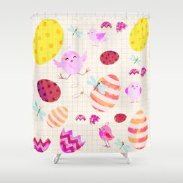 Easter watercolor Shower Curtain