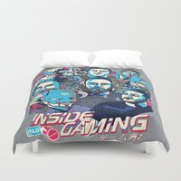 gaming Duvet Covers featuring Inside Gaming by MikeRush