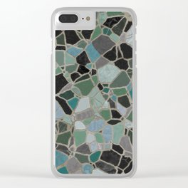 Mosaic Stone Clear iPhone Case