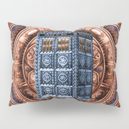 Aztec Tardis Doctor Who Full Color Pencils Sketch Pillow Sham