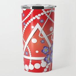 Petals and Pearls Travel Mug