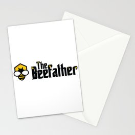 The Beefather - Bee Honey Beekeeper Honeycombs Stationery Cards