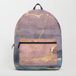 Watercolor Gradient Gold Foil Backpack