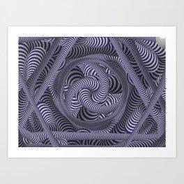 Nautical and nifty design Art Print