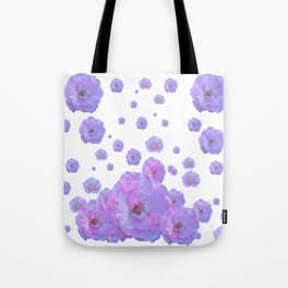PALE BLUISH-PINK ROSE GARDEN ABSTRACT FLORAL Tote Bag