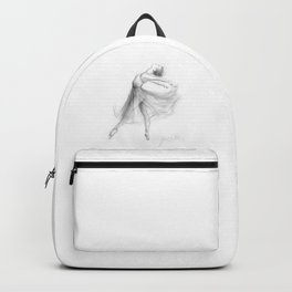 Ballerina Drawing, Ballet Dancer, Pencil Sketch Backpack