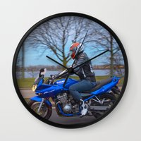 moto Wall Clocks featuring Moto-tastic shot by Fatih