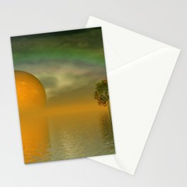 when the moon touched earth -13b- Stationery Cards