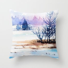 Winter scenery #13 Throw Pillow