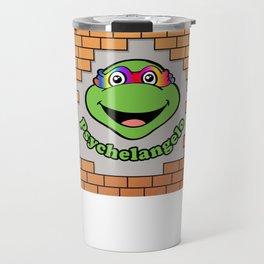 Psychelangelo - The Lost Ninja Turtle Travel Mug