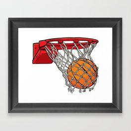 ball basket Framed Art Print