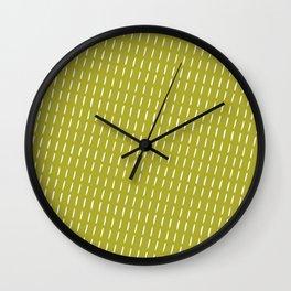 modern green background Wall Clock