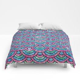 Glitter mermaid scales Comforters