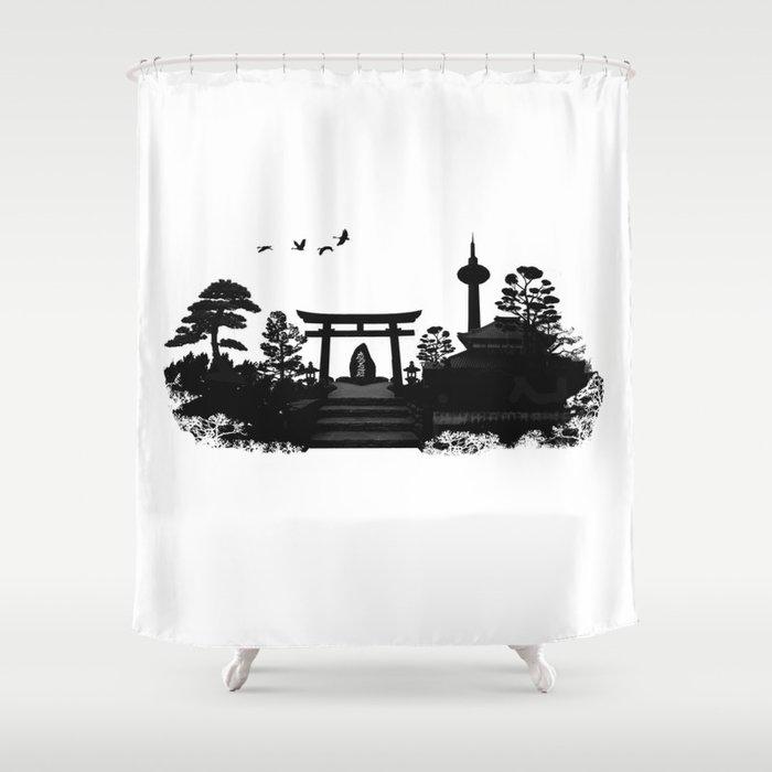 Kyoto Japan Shower Curtain