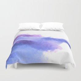 Purple Sky, White Light - abstract Duvet Cover