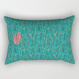 Green feathers Rectangular Pillow