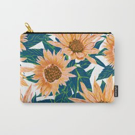 Blush Sunflowers Carry-All Pouch