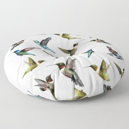 hummingbird pattern 2 Floor Pillow