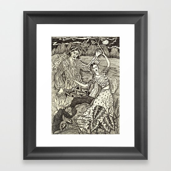 Girl Turning Into A Tree Framed Art Print