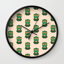 Chibi Michelangelo Ninja Turtle Wall Clock