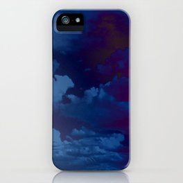 Clouds in a Stormy Blue Midnight Sky iPhone Case