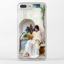 "John William Waterhouse ""Flora"" Clear iPhone Case"