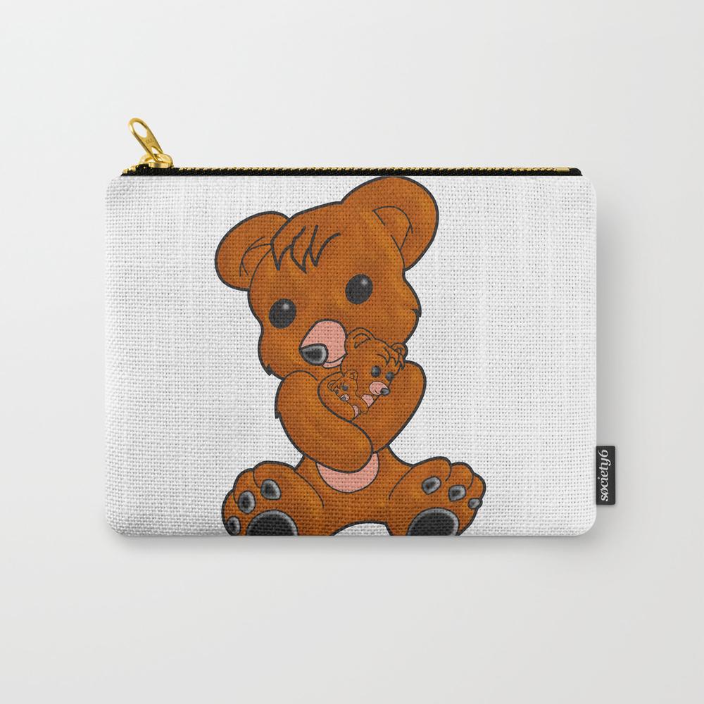 Teddy's Love Carry-all Pouch by Mysticskillz CAP7122351