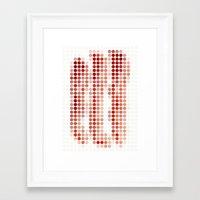 bacon Framed Art Prints featuring Bacon by Triplea