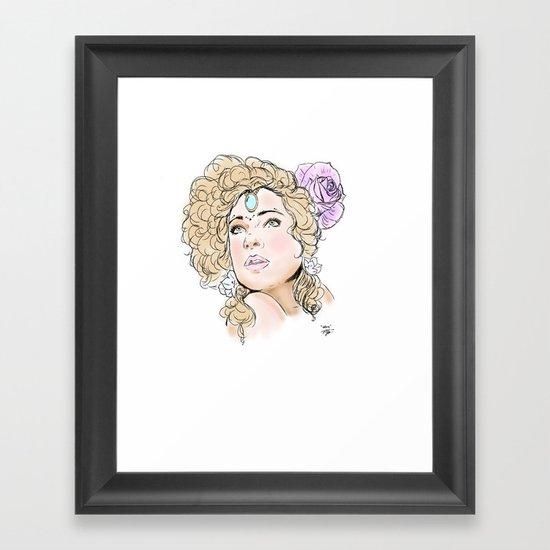 """""""Alex Kingston"""" Framed Art Print"""