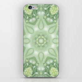 Spring Mandala 02 in Green, Yellow and White iPhone Skin