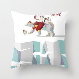 Private Penguin's Polar Percussion Throw Pillow