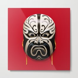 Chinese mask Metal Print