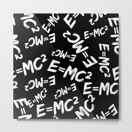Special Relativity pattern black and white Metal Print