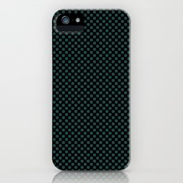 Black and June Bug Polka Dots iPhone Case