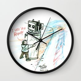 """I Wuv you Robot"" Wall Clock"