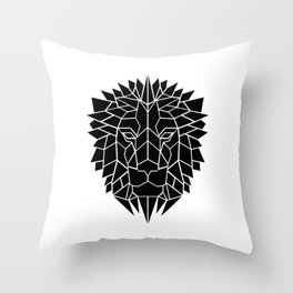Black Lion Throw Pillow