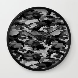 Camouflage (Gray) Wall Clock