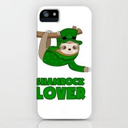 ST PATRICKS DAY SHAMROCK Sloth Gift Kids iPhone Case